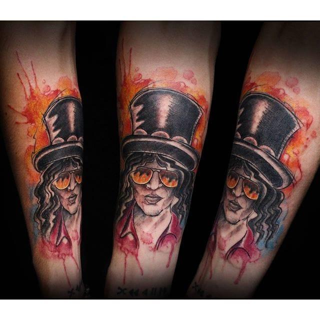 Slash Tattoo by Jed Harwood #gunsnroses #slash #portrait #jedharwood