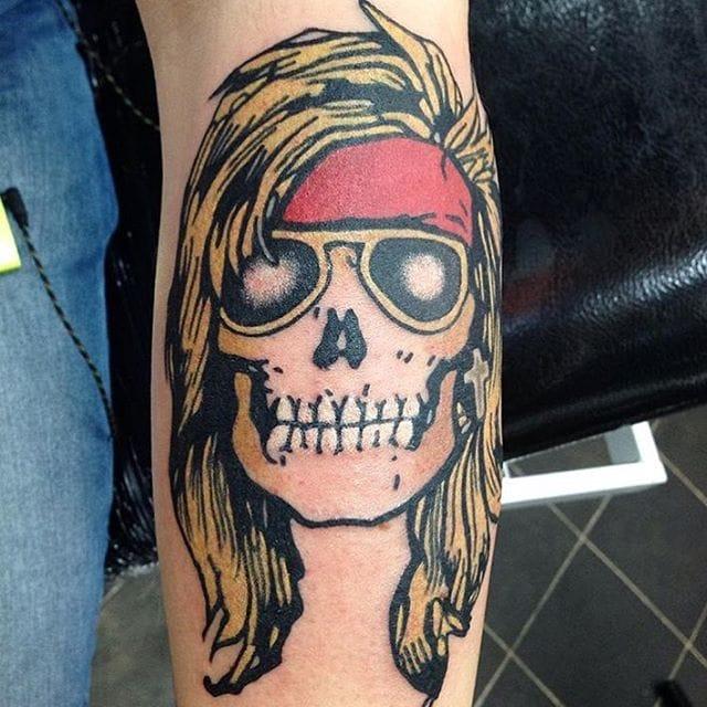 Guns N'Roses Skull Tattoo by Kelvin Gabriel #gunsnroses #music #kelvingabriel