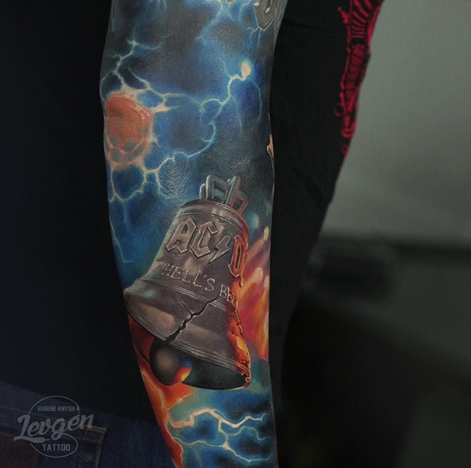 Realistic ACDC tattoo #acdctattoo #realistictattoos #Levgen #EugeneKnysh