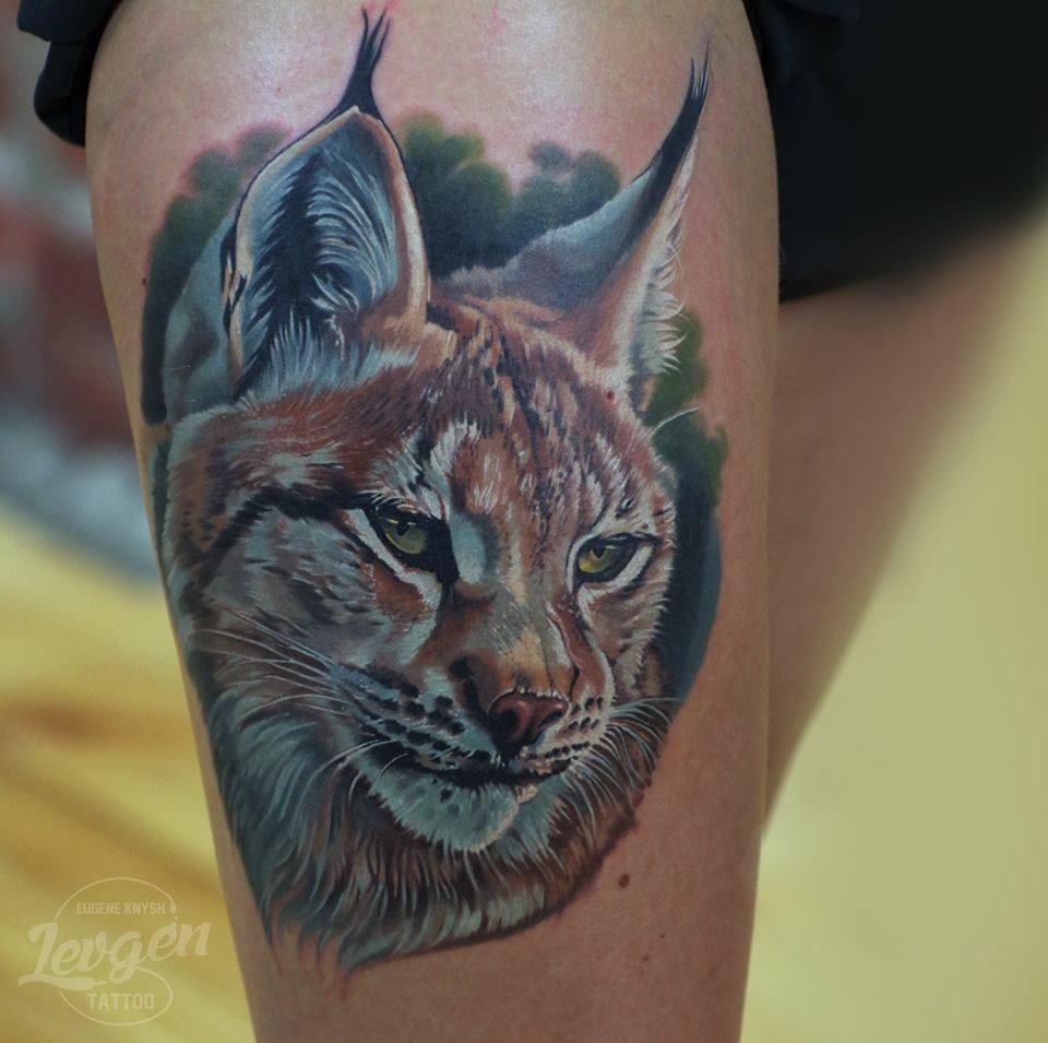 Realistic lynx tattoo #lynxtattoo #realistictattoos #Levgen #EugeneKnysh