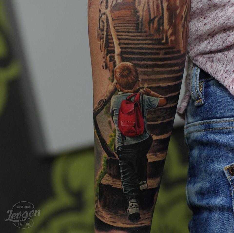 Realistic boy tattoo #realistictattoos #Levgen #EugeneKnysh