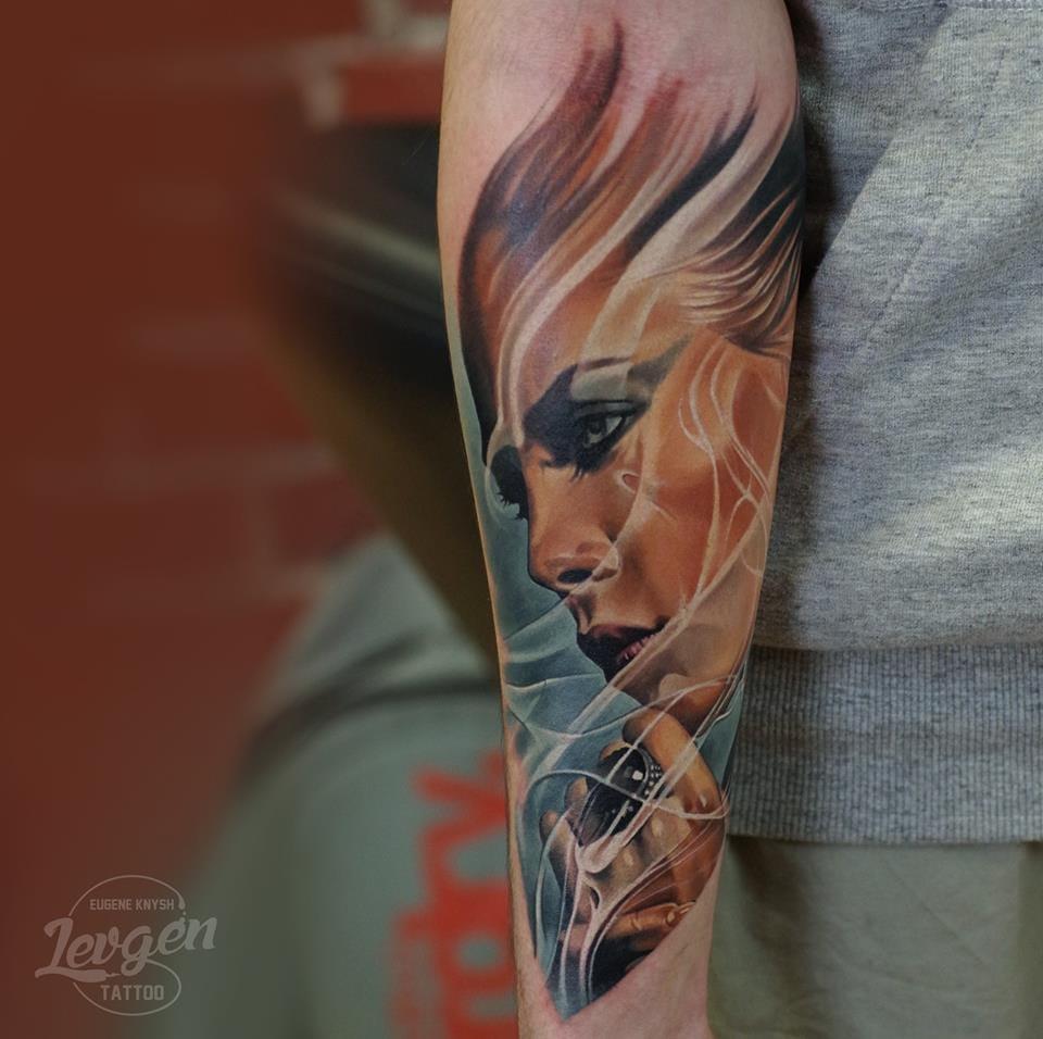 Realistic portrait tattoo #realistictattoos #Levgen #EugeneKnysh