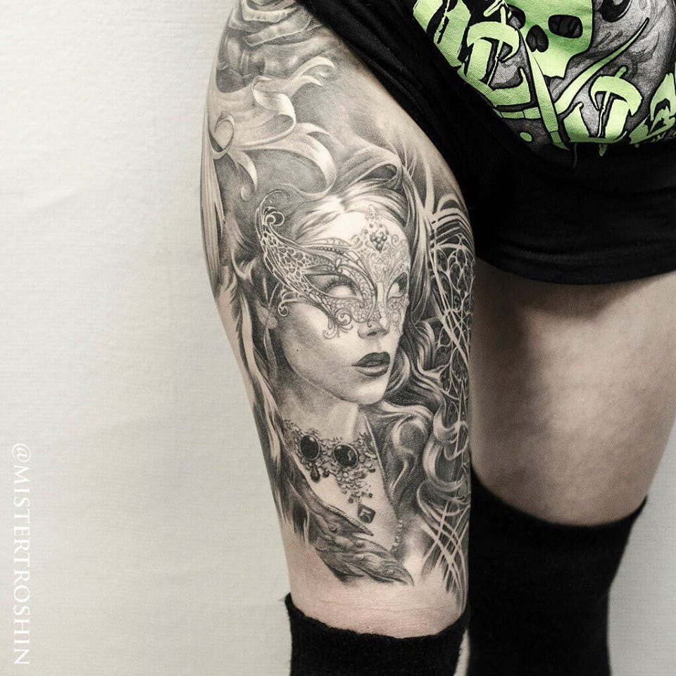 Intricate Black And Grey Tattoos By Dmitriy Troshin