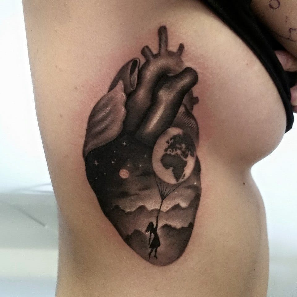 Charming Black And Grey Tattoos By Gabriele Pais