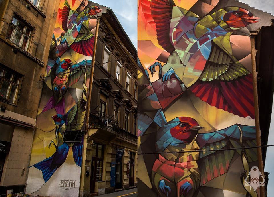 Street Art by Carlos BreakOne #streetart #graphictattoos #BreakOne