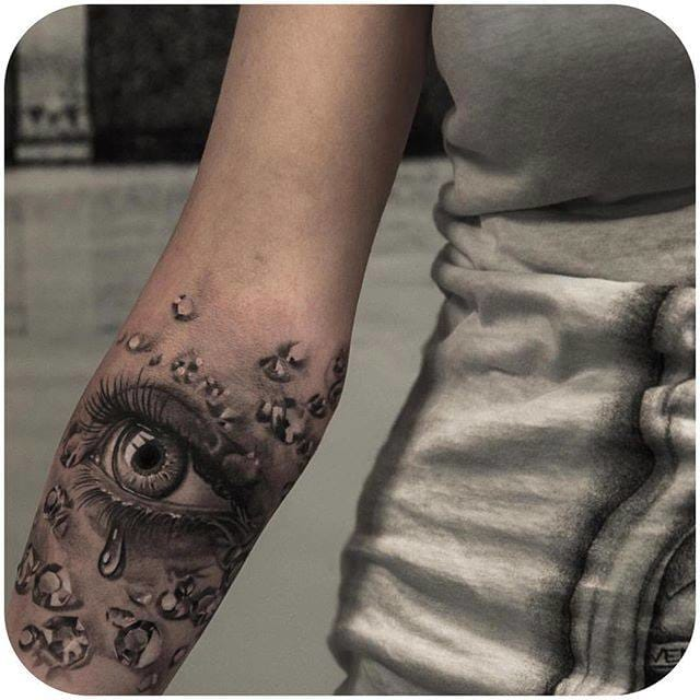 Realistic eye tattoo by Niki Norberg (@niki23gtr) #nikinorberg #realistictattoo #eyetattoo