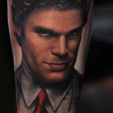 Dexter portrait tattoo (@richiebon) #RichPineda