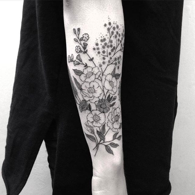 Beautifully Monochromatic: The Tattoos Of Emily Alice Johnston