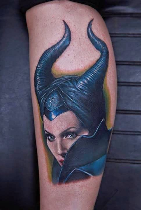 Hyper realistic portrait of Maleficent by Rich Pineda.