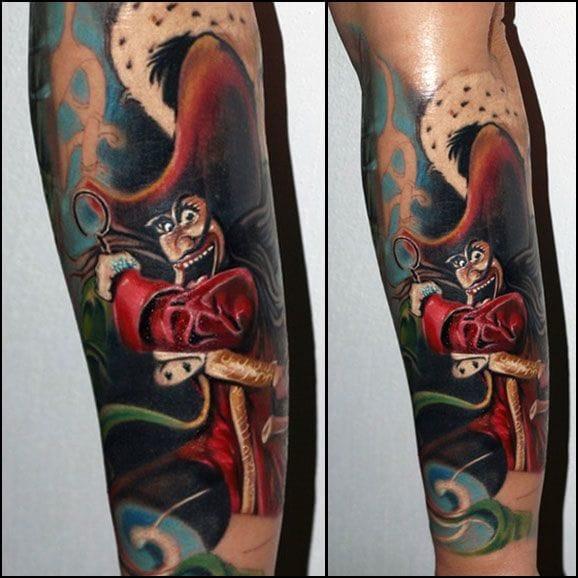 Captain Hook - Peter Pan by Tatuaggi Piacenza, Italy.