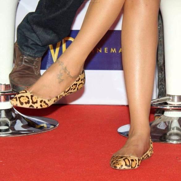 Padukone's ankle/foot tattoo. #DeepikaPadukone #ankletattoo