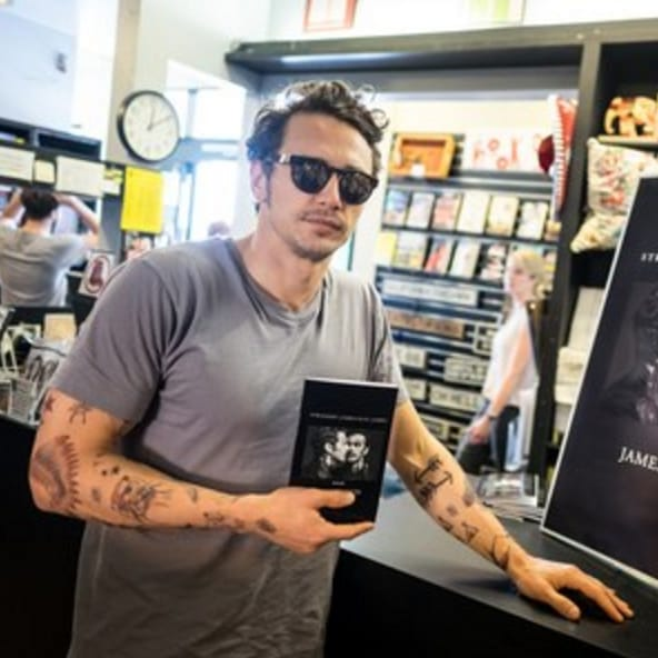 James Franco Rocks Fake Tattoos At Signing For New Book