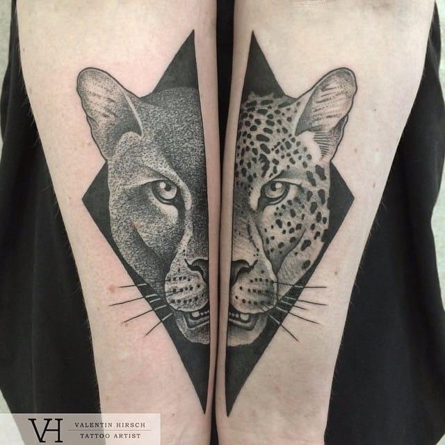2 for 1 wildcats by Valentin Hirsch #ValentinHirsch #symmetrical #wildcats