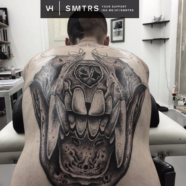 Epic backpiece in progress by Valentin Hirsch #ValentinHirsch #symmetrical #backpiece