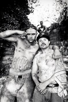 Tattooed gang members