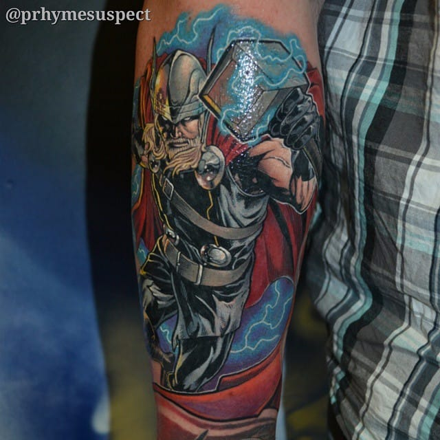 Epic Superhero Tattoos By Troy Slack
