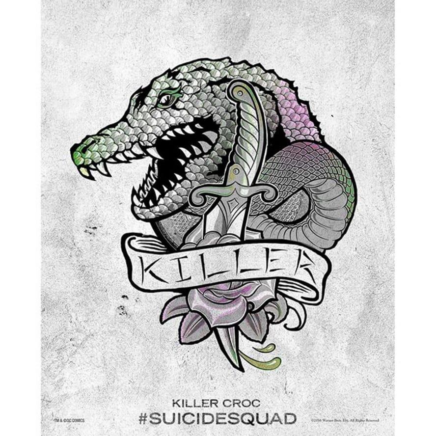 via @therealadewale #SuicideSquad #HarleysTattooParlour #killercroc