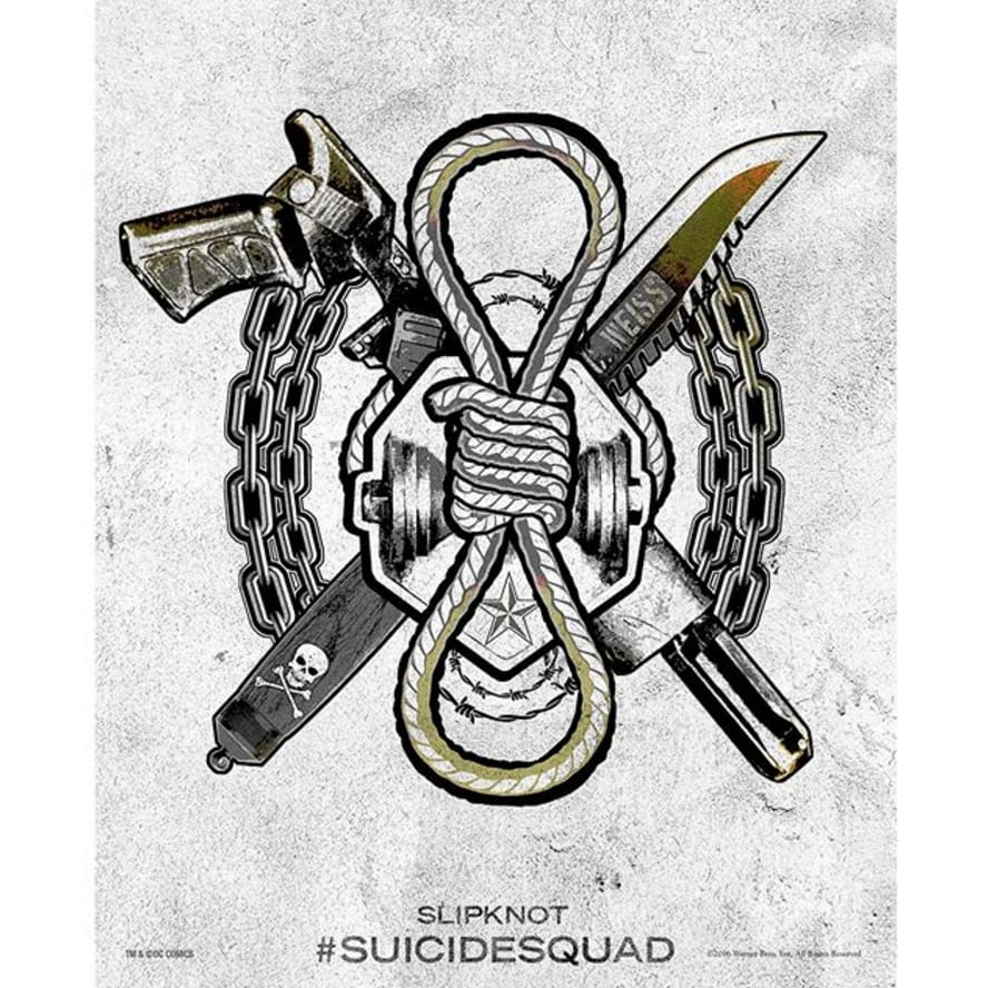 via @adamrbeach #SuicideSquad #HarleysTattooParlour #slipknot