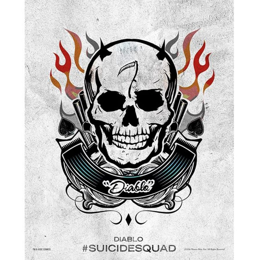 via @jayhernandez001 #SuicideSquad #HarleysTattooParlour #diablo