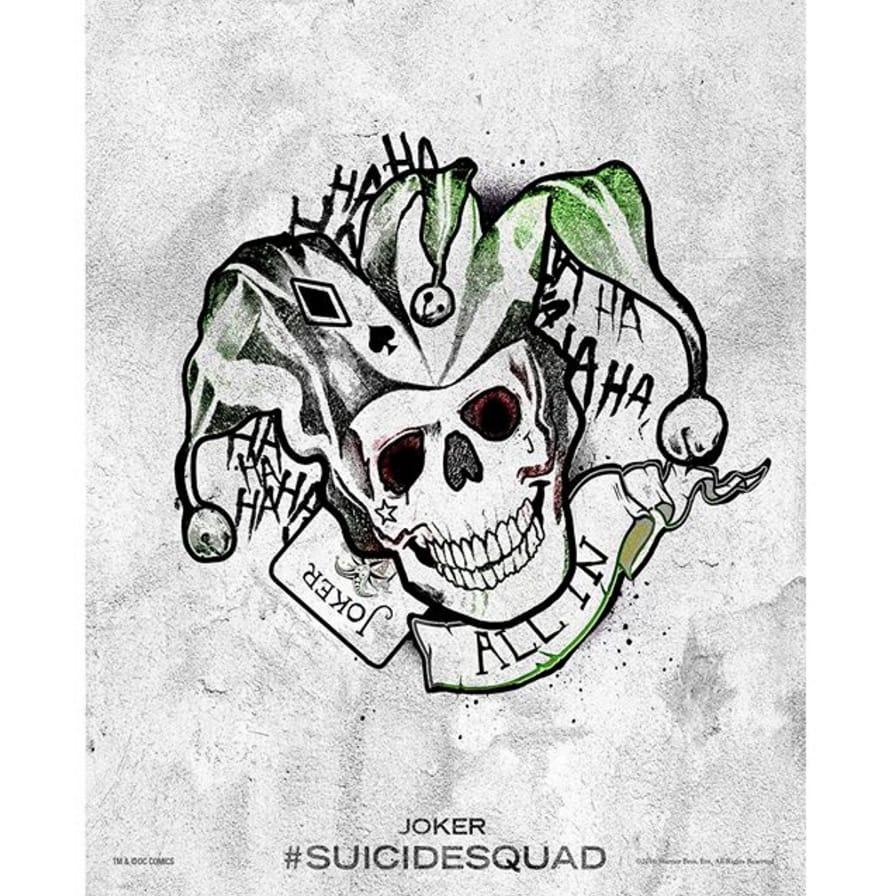 via @suicidesquad #SuicideSquad #HarleysTattooParlour #joker