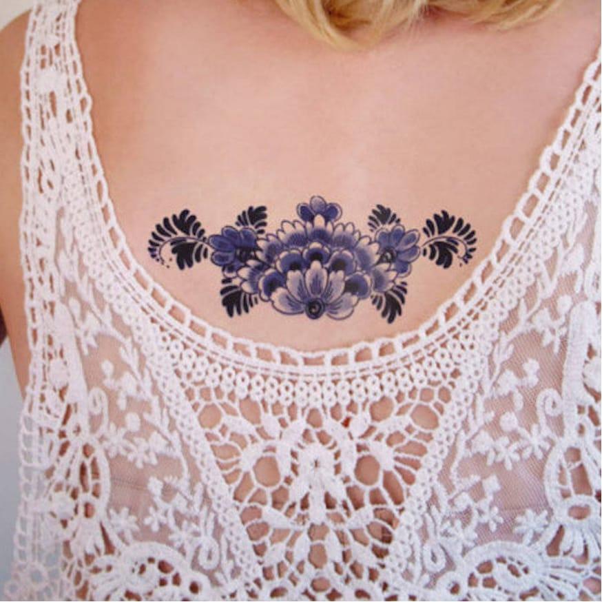 via Tattoorary  #temporarytattoo #flowertattoo