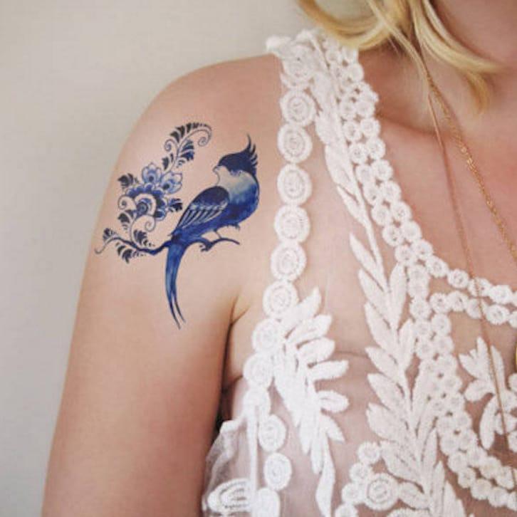 via Tattoorary  #temporarytattoo