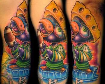 The Favre Penguin tattoo