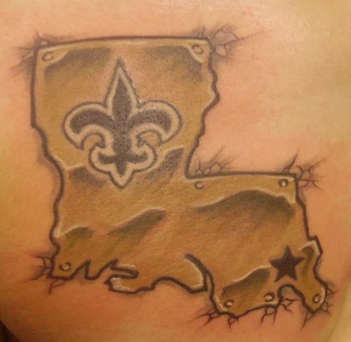 New Orleans Saints Tattoo