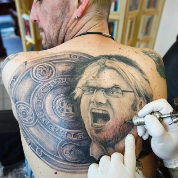 Have You Seen This Epic Jurgen Klopp Back Tattoo?