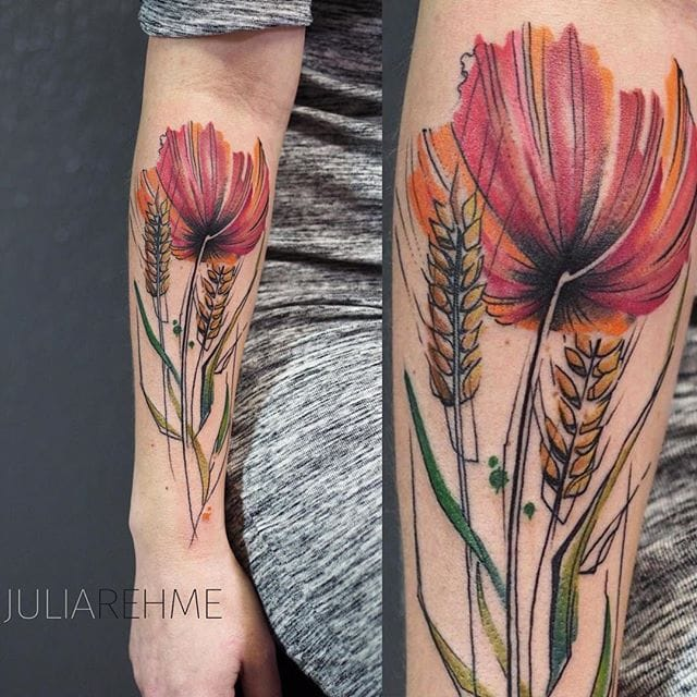 Abstract Nature Tattoos By Julia Rehme