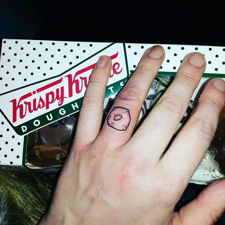 "Woman ""Marries"" Krispy Kreme With The Cutest Donut Tattoo!"