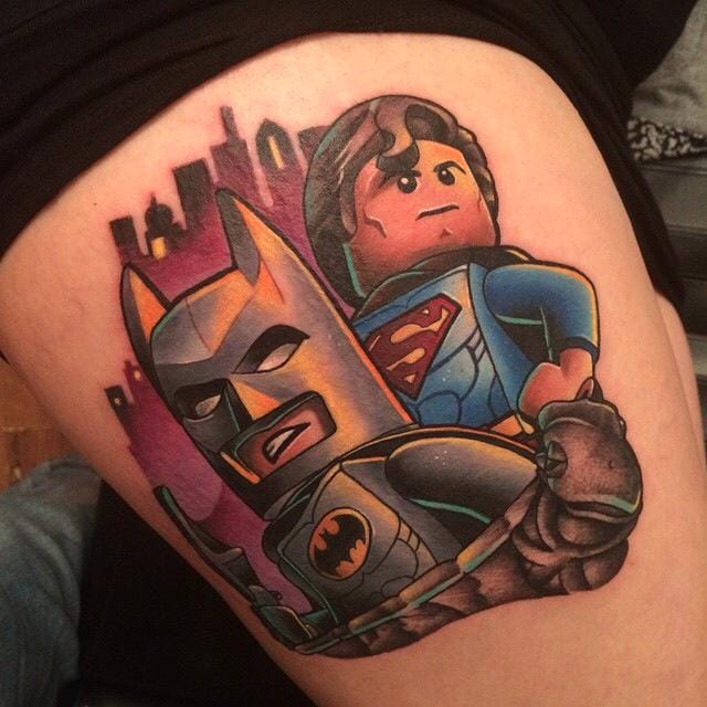 Batman vs Superman: The Dawn Of Super Tattoos!