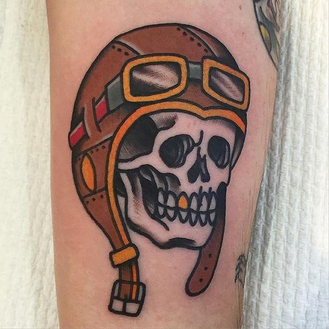 10 Hardy Pilot Skull Tattoos