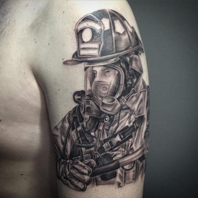 14 Fearless Firefighter Tattoos