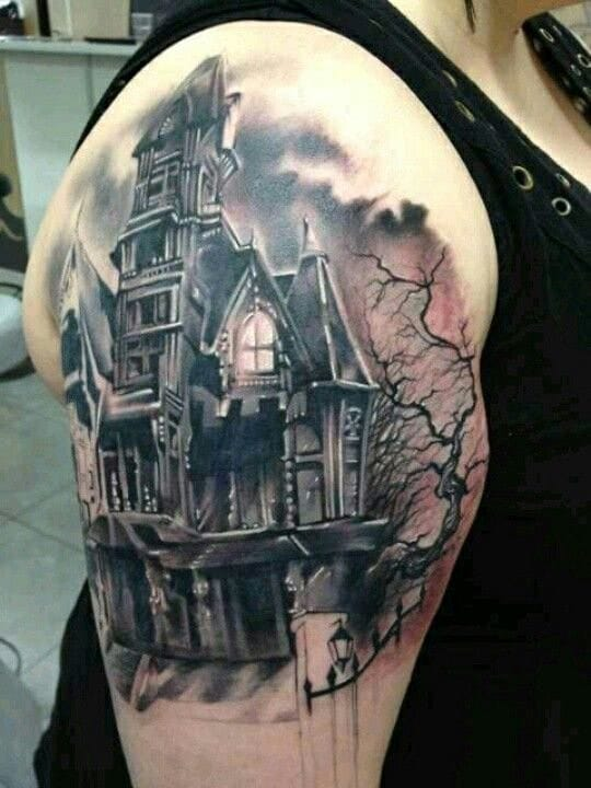 20 Haunted House Tattoos