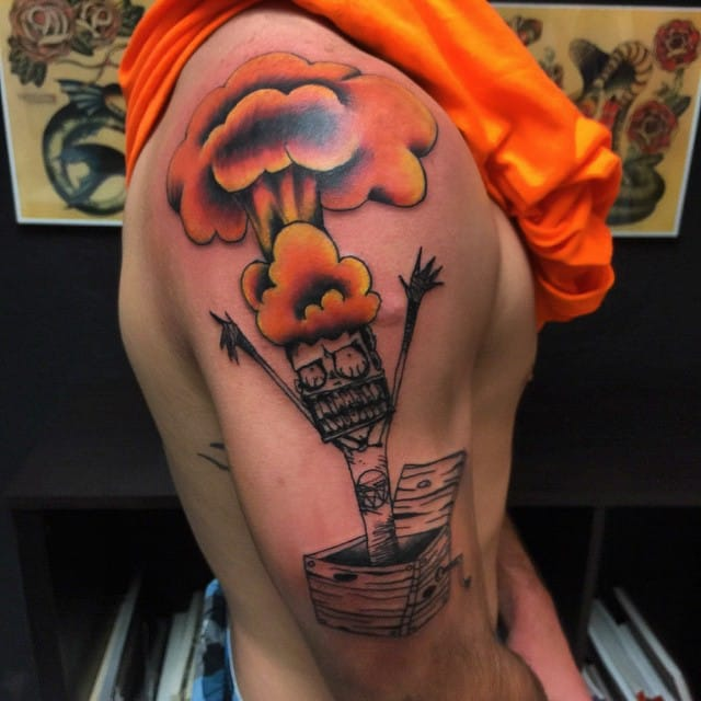 Go Nuclear With These 11 Mushroom Cloud Tattoos