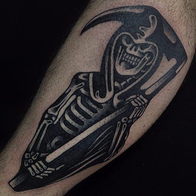A reaper #blackwork #traditional #reaper #luxianostreetclassic