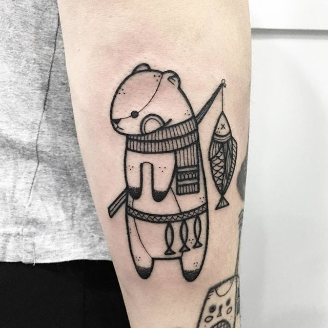 Hugo Tattooer Is Showing The Cute Side Of Blackwork