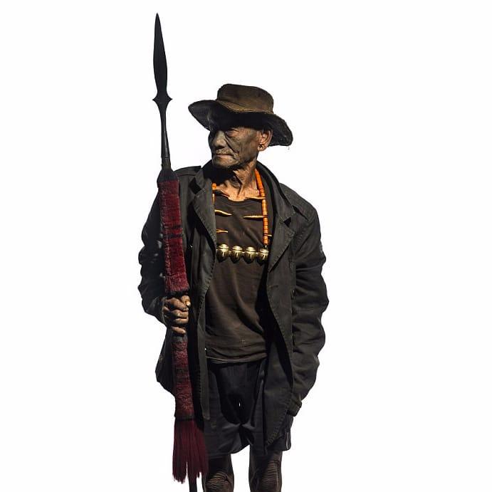 Konyak Naga Headhunter #KonyakNaga #headhunter #tribaltattoos #tattoohistory #India #tribes