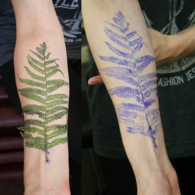 Tattoo Artist Rit Kit Is Using Living Plants As Tattoo Stencils