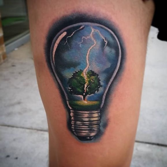 10 Out Of The Ordinary Light Bulb Tattoos