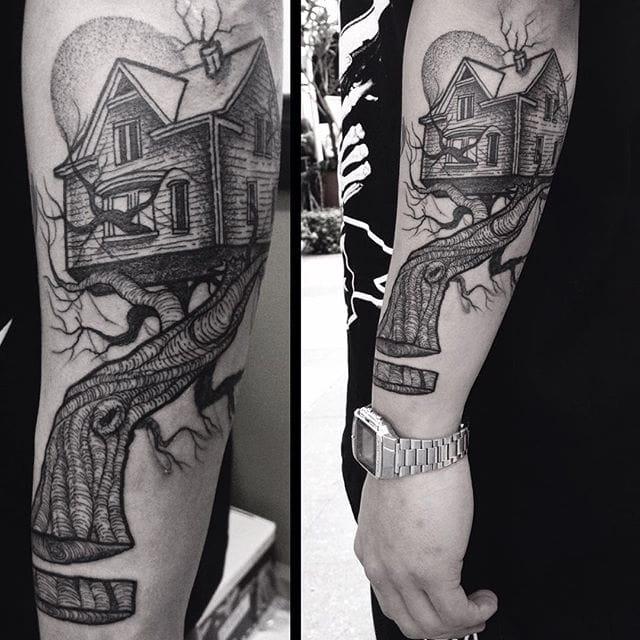 10 Innovative Tree House Tattoos
