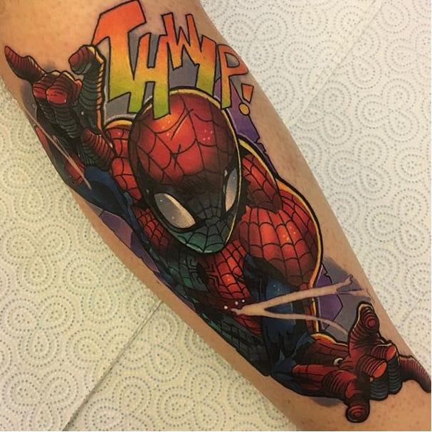 12 Web Slinging Spider-Man Tattoos