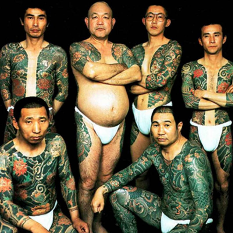 Heavily tattooed Yakuza members. #japanese #bodysuit #yakuza #yakuzamembers #tattooedyakuza