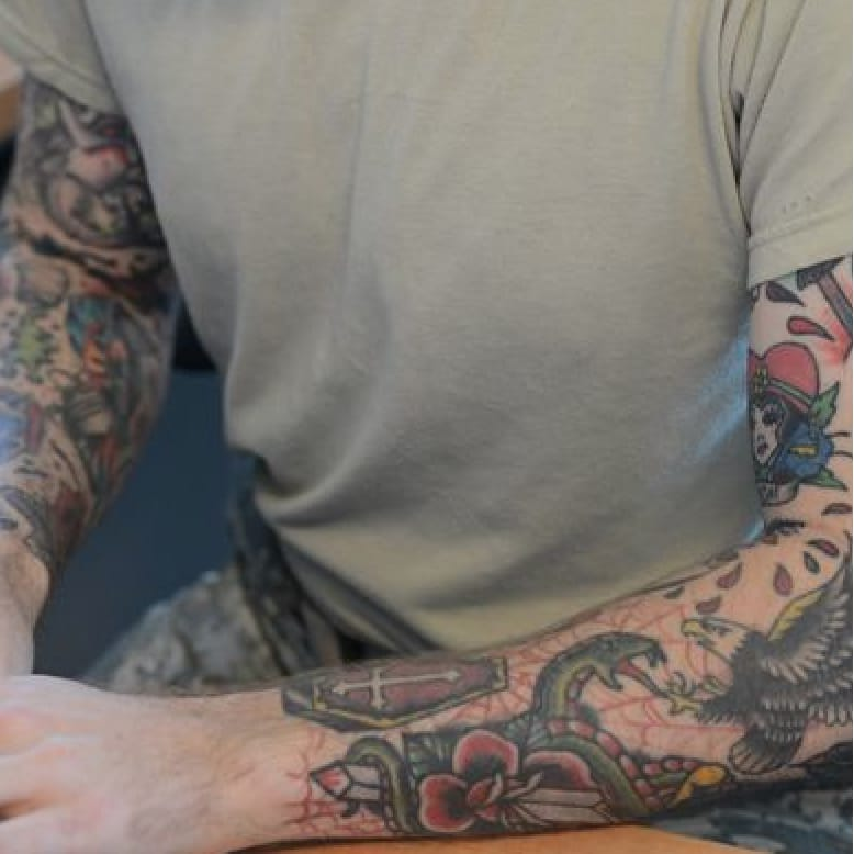 Sorry bud, no spa for you. #tattooedsleeves