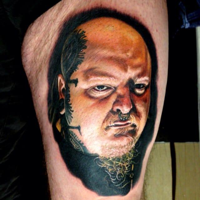 Mr Hurtado, horror tattoo artist Paul Booth