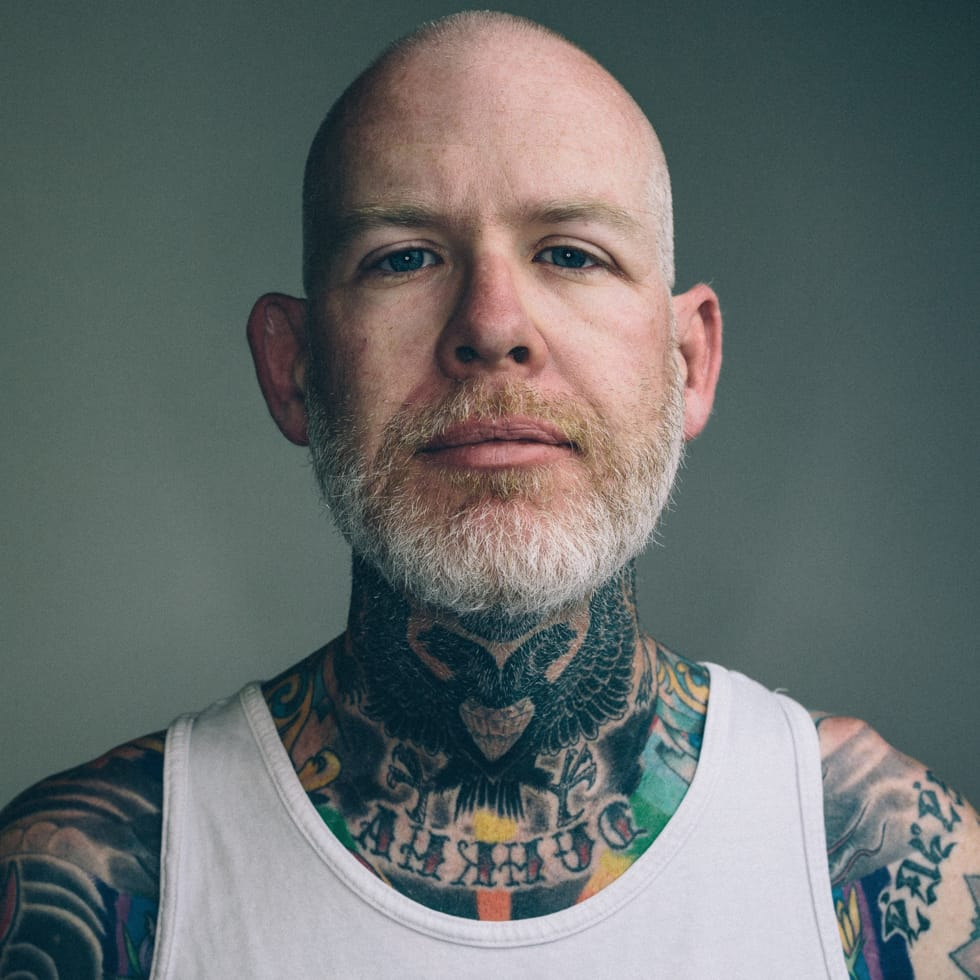 Portrait of Mike Giant #MikeGiant #tattooedman #artist