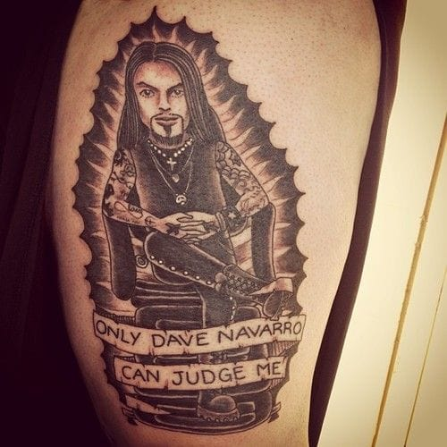 And one hilarious fan tattoo of Dave Navarro (unknown artist, let us know)...