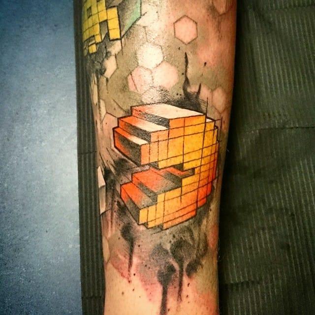 Chomp On These Creative Pac-Man Tattoos