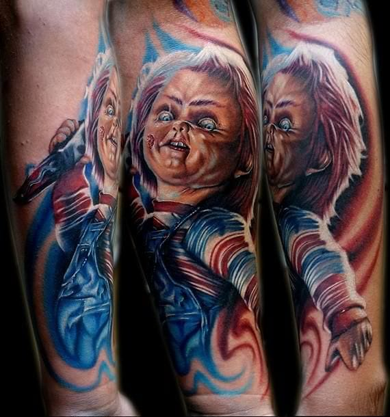 15 Sick & Gruesome Horror Movie Tattoos